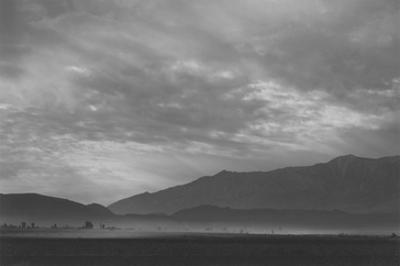 View Sw over Manzanar, Dust Storm