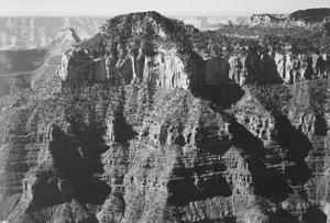 "View Taken From Opposite Of Cliff Formation High Horizon ""Grand Canyon NP"" Arizona 1933-1942 by Ansel Adams"