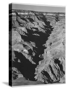 """View With Shadowed Ravine """"Grand Canyon From South Rim 1941"""" Arizona.  1941 by Ansel Adams"""