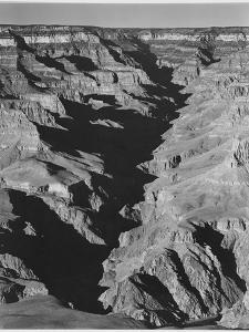 "View With Shadowed Ravine ""Grand Canyon From South Rim 1941"" Arizona.  1941 by Ansel Adams"