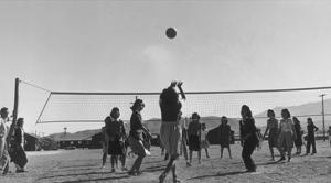 Volley Ball Game by Ansel Adams
