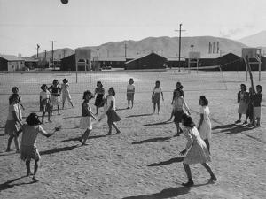 Volleyball at Manzanar Relocation Center, 1943 by Ansel Adams