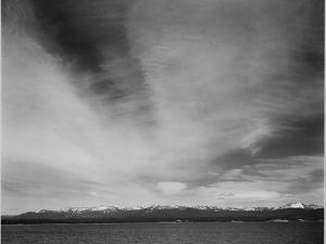 """Wider Strip Of Mountains """"Yellowstone Lake Yellowstone NP"""" Wyoming. 1933-1942 by Ansel Adams"""