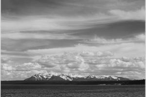 Yellowstone Lake Mt. Sheridan Yellowstone National Park Wyoming, Geology, Geological. 1933-1942 by Ansel Adams