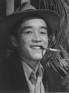 Yonehisa Yamagami, electrician, Manzanar Relocation Center, California, 1943 by Ansel Adams