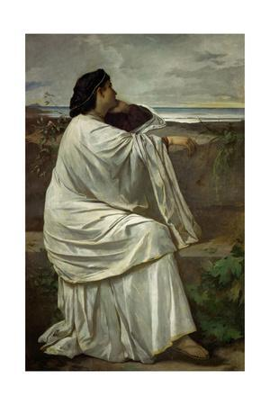 "Iphigenia, Feuerbach's favourite Roman model "" Nana"". Oil on canvas (1871) 192.5 x 126.5 cm."