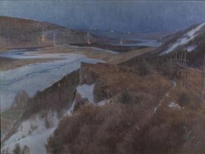 Walpurgis Night in Bergslagen, Grangärde in Dalarna, 1896 by Anshelm Leonard Schultzberg