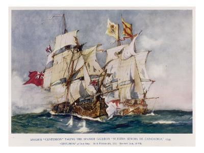 Anson's Naval Victory--Giclee Print