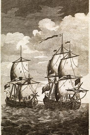 Anson's Spanish Galleon Capture, 1743-Middle Temple Library-Photographic Print