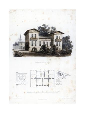 Design for a Country House in Moabit, Near Berlin, Germany, C1850