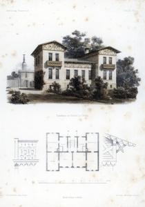 Design for a Country House in Moabit, Near Berlin, Germany, C1850 by Anst von W Loeillot