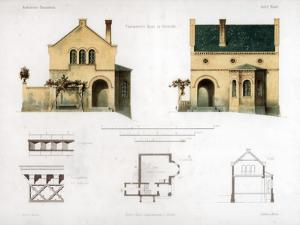 Design for a House in Glienicke, Germany, C1850 by Anst von W Loeillot