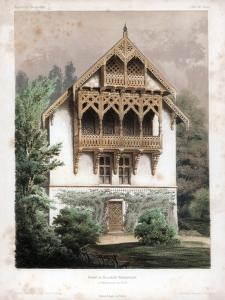 Gable on a Residential Building, Schonhausen, Near Berlin, Germany, C1850 by Anst von W Loeillot