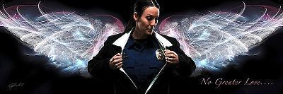 Answering the Call (Policewoman)-Jason Bullard-Art Print