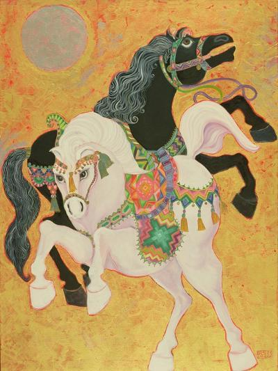 Antar and Abla, 1989-Laila Shawa-Giclee Print