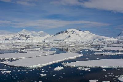 Antarctica. Antarctic Circle. Adelaide Island. the Gullet. Ice Floes-Inger Hogstrom-Photographic Print
