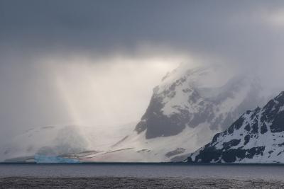 Antarctica. Bransfield Strait. Iceberg under Stormy Skies-Inger Hogstrom-Photographic Print