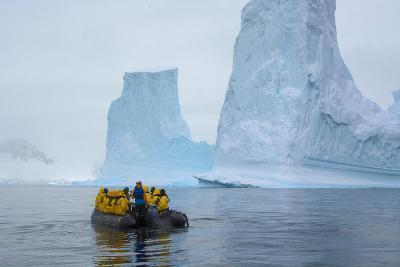 Antarctica. Charlotte Bay. Zodiac Cruising around Icebergs-Inger Hogstrom-Photographic Print