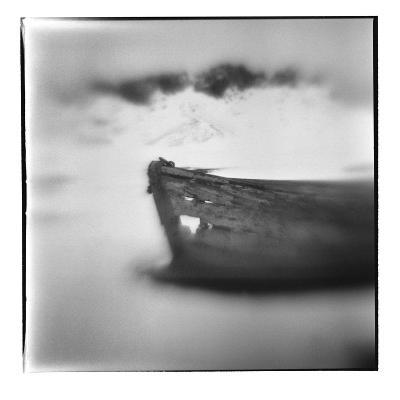 Antarctica, Deception Island, Abandoned wooden skiff at Whalers Cove.-Paul Souders-Photographic Print