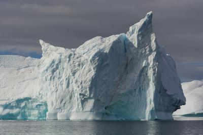 Antarctica. Gerlache Strait. Iceberg with Different Textures-Inger Hogstrom-Photographic Print