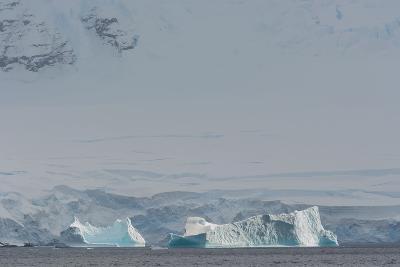 Antarctica. Gerlache Strait. Iceberg with Glacier in the Background-Inger Hogstrom-Photographic Print