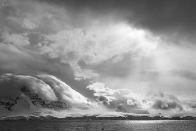 Antarctica, South Atlantic. Stormy Snow Clouds over Peninsula-Bill Young-Photographic Print