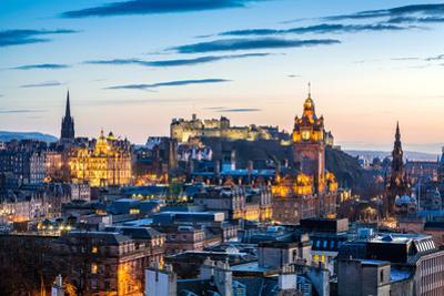 Edinburgh Evening Skyline HDR by antbphotos