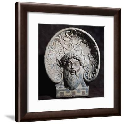 Antefix with Head of Silenus, from Temple of Pyrgi, Lazio, Italy, 5th Century BC--Framed Giclee Print
