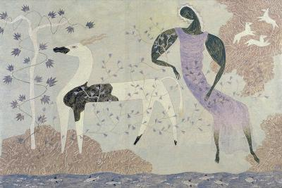 Antelope and Figure in a Landscape, 1936-John Armstrong-Giclee Print