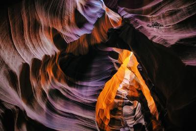 Antelope Canyon Swirl, Abstract, Southwest US, Page, Arizona, Navajo-Vincent James-Photographic Print