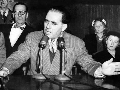 Anthony Anastasia Testifies before Senate Crime Investigating Committee on March 19, 1951--Photo