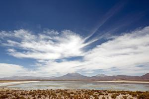 Bolivian Altiplano, Bolivia. Lake and Mountains in Coipasa, Bolivia. by Anthony Asael