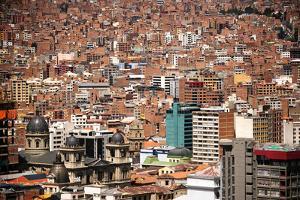 Cityscape from the Kili Kili viewpoint, La Paz, Bolivia by Anthony Asael