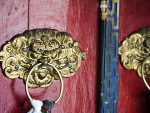 Dragon Head Door Grip, Likir, Ladakh, India by Anthony Asael