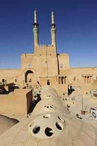 Iran, Yazd, Zoroastrian Complex of Amir Chakma with Bazaar Roofs by Anthony Asael