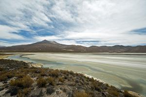 Lake and mountain landscape, Macaya, Bolivia by Anthony Asael