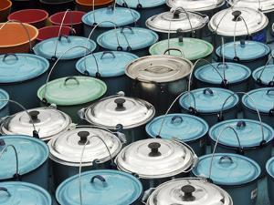 Metallic Buckets, San Juan De Chamula, Mexico by Anthony Asael