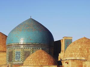 Necropolis in Central, Part of the Shah-I-Zinda Mausoleum, Shah-I-Zinda, Samarkand, Uzbekistan by Anthony Asael