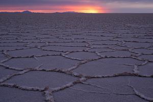 Sunrise, Salar de Uyuni, Uyuni, Bolivia by Anthony Asael