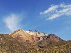 View of Volcan Tahua, Salar de Uyuni, Uyuni, Bolivia by Anthony Asael