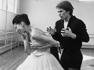 Rudolf Khametovich Nureyev and Margot Fonteyn Rehearsing Marguerite and Armand, England by Anthony Crickmay