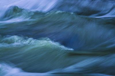 Blue Choppy Waves In Slow Motion