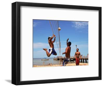 Beach Volleyball on Playa de Los Muertos, Mexico