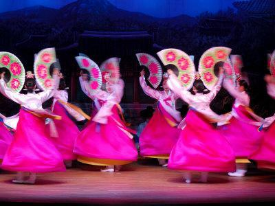Dancers Performing at Korea House, Myeong-Dong, Seoul, South Korea