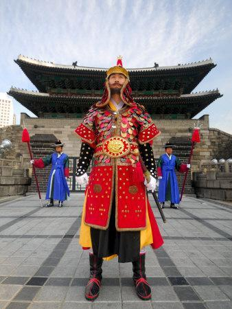Guards of Gate at Namdaemun Gate, Seoul, South Korea