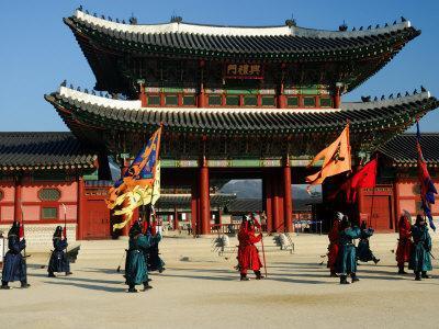 Gyeongbokgung Palace Changing of the Guard, Gwanghwamun, Seoul, South Korea
