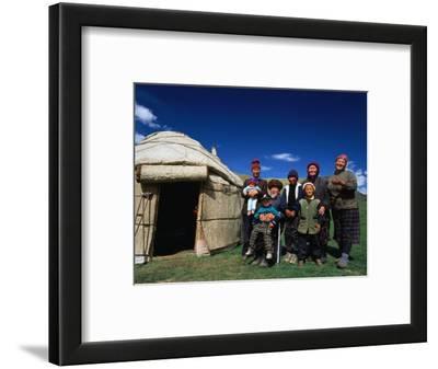Krygz Family Portrait Outside Summer Yurt, Outside of Kochkor, Kyrgyzstan