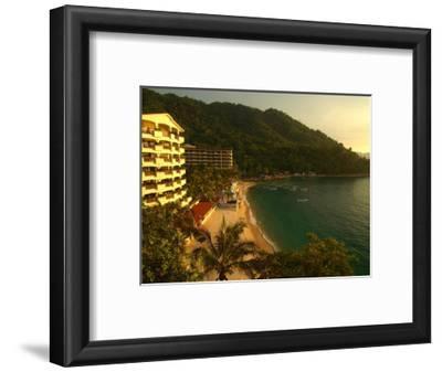 La Jolla De Mismaloya Hotel in Mismaloya Bay at Sunset, Puerto Vallarta, Mexico