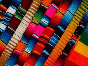 Traditional Textiles for Sale in Zona Romantica, Mexico by Anthony Plummer
