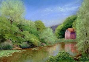 Down Stream to the Mill, 2010 by Anthony Rule